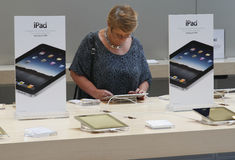 IPad on Sale Stock Photos