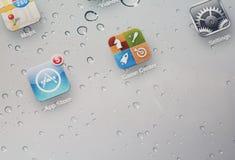 Ipad-Schirm stockbild