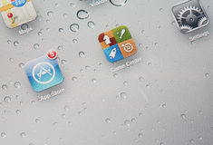 Ipad screen Stock Image