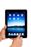 IPad tablet computer user hands Royalty Free Stock Image