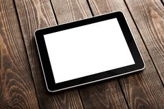 Ipad. Tablet desk isolated table pad green Stock Images