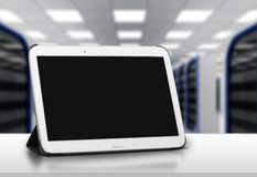 Ipad. Tablet gadget closeup navigate isolated multitask royalty free stock photos