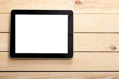 Ipad. Tablet view top isolated table pad royalty free stock photos