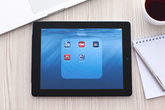Free IPad With Popular News App On The Screen Is On The Table In The Stock Photo - 44561070