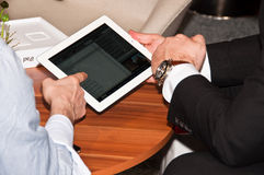 iPad2 at Invest exhibition in Stuttgart  Stock Photos