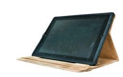 iPad2 usado isolado com tampa de Moshi fotos de stock