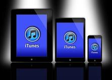 新的苹果计算机iPad和iPhone 免版税库存照片