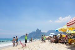 Ipanema海滩里约热内卢早晨视图 库存图片
