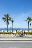 Ipanema海滩里约热内卢巴西木板走道 库存照片