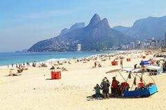 ipanema пляжа стоковое фото rf