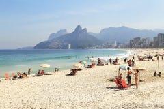 ipanema пляжа стоковые изображения rf