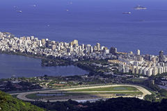 Ipanema Beach. Aerial View of Ipanema Beach in Rio de Janeiro Royalty Free Stock Photography