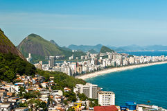 Ipanema Beach Aerial View Royalty Free Stock Images