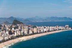 Ipanema Beach Aerial View, Rio de Janeiro Royalty Free Stock Photography