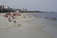 Ipanema beach and Atlantic ocean in Rio de Janeiro. Stock Photos