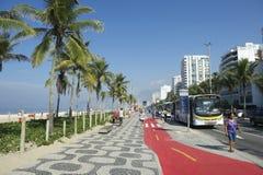 Ipanema Beach Boardwalk Bus Stop Rio de Janeiro Brazil Royalty Free Stock Photos