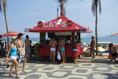 Ipanema Beach Boardwalk Kiosk Stock Photos