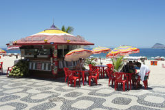 Ipanema Beach Boardwalk Kiosk Royalty Free Stock Images