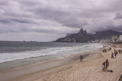 Ipanema beach - cloudy day Royalty Free Stock Image