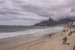 Ipanema beach - cloudy day Royalty Free Stock Image