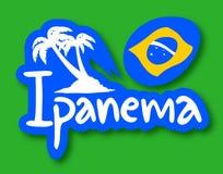 Ipanema beach. Creative design of Ipanema beach Stock Image