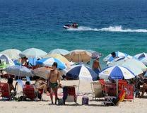 Ipanema beach on the first day of summer. Rio de Janeiro - Brazil, , people playing on Ipanema beach on the first day of summer in Brazil royalty free stock photos