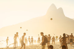 Ipanema Beach Kick-Ups Brazilians Playing Altinho Beach Football Stock Images
