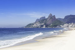 Ipanema Beach in the morning, Rio de Janeiro Stock Photography