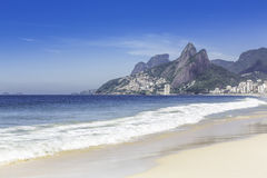 Ipanema Beach in the morning royalty free stock image