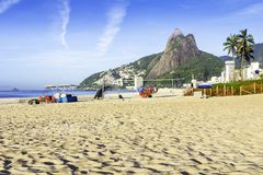 Ipanema Beach in the morning Royalty Free Stock Photo