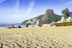 Ipanema Beach in the morning Royalty Free Stock Photo
