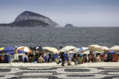 Ipanema beach with ocean as background royalty free stock image