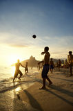 Ipanema Beach Rio Brazilians Playing Altinho Stock Photo