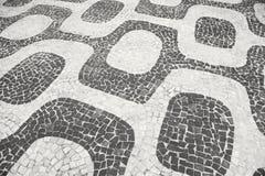 Ipanema Beach Rio de Janeiro Boardwalk Pattern. Full frame background close-up stock photography