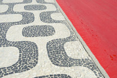 Ipanema Beach Rio de Janeiro Boardwalk Red Bike Path Royalty Free Stock Photography