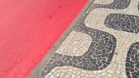 Ipanema Beach Rio de Janeiro Boardwalk Red Bike Path stock video footage
