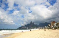 Ipanema Beach, Rio de Janeiro, Brazil. Royalty Free Stock Photos