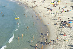 Ipanema Beach Rio de Janeiro Brazil from Above Royalty Free Stock Images