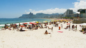 IPANEMA BEACH, RIO DE JANEIRO, BRAZIL - NOVEMBER 2009: Crowds of Stock Photo