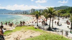IPANEMA BEACH, RIO DE JANEIRO, BRAZIL - NOVEMBER 2009: View over Royalty Free Stock Image