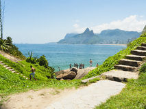 IPANEMA BEACH, RIO DE JANEIRO, BRAZIL - NOVEMBER 2009: View over Stock Photography