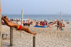 Ipanema Beach, Rio Royalty Free Stock Photography