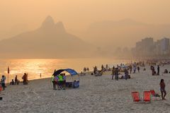 Ipanema beach Royalty Free Stock Photography