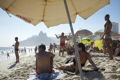 Ipanema Beach Rio de Janeiro Brazil Summer Scene Royalty Free Stock Photo
