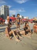 Ipanema Beach Rio de Janeiro Brazil Summer Scene Stock Images