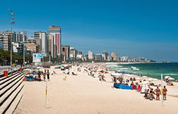 Ipanema Beach, Rio de Janeiro, Brazil. Sunny Day in Ipanema Beach, Rio de Janeiro, Brazil Stock Image