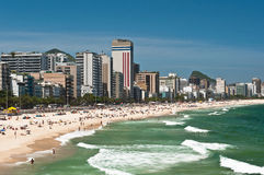 Ipanema Beach, Rio de Janeiro, Brazil. Sunny Day in Ipanema Beach, Rio de Janeiro, Brazil royalty free stock photo