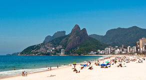 Ipanema Beach on the Sunny Summer Day Royalty Free Stock Photo
