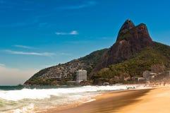 Ipanema Beach on Sunny Summer Day Royalty Free Stock Photography