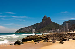 Ipanema Beach on Sunny Summer Day Stock Images